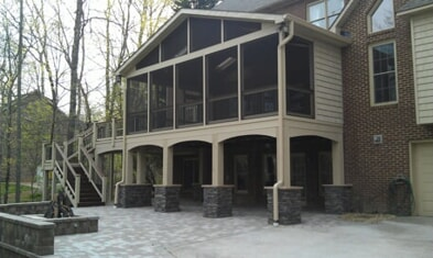 second level screened in porch