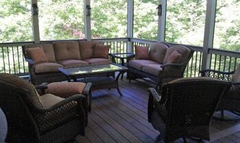 screened in porch with ipe custom floor