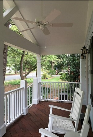 Classic Rocking Chair Front Porch With Ceiling Fan Nashville Tn