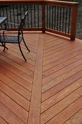 wood deck with detailing