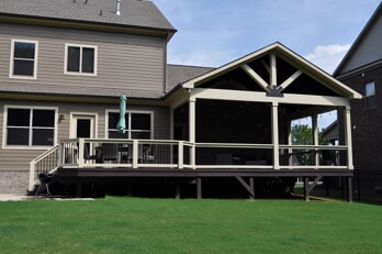 Deck and open porch combination