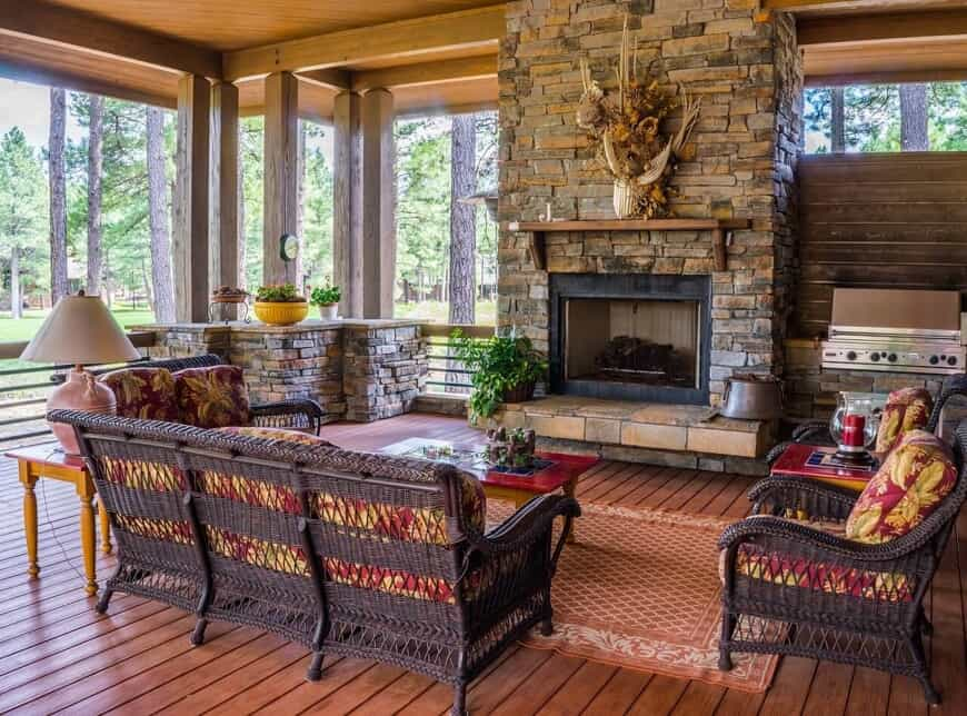 Old Hickory TN Rustic Screened Porches