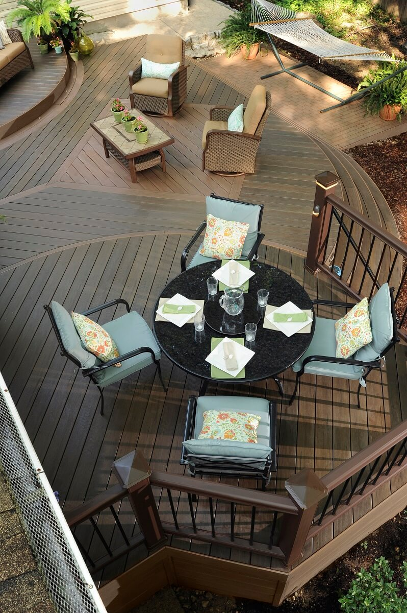 Seating area on a deck