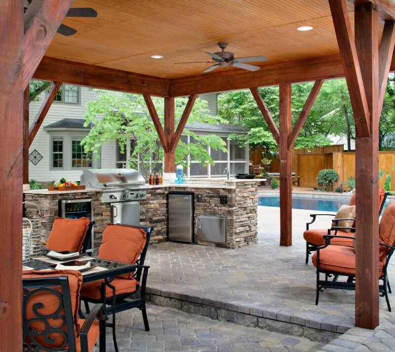 Outdoor Kitchen and covered patio