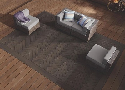 TimberTech by AZEK multi width decking for dynamic nashville deck designs