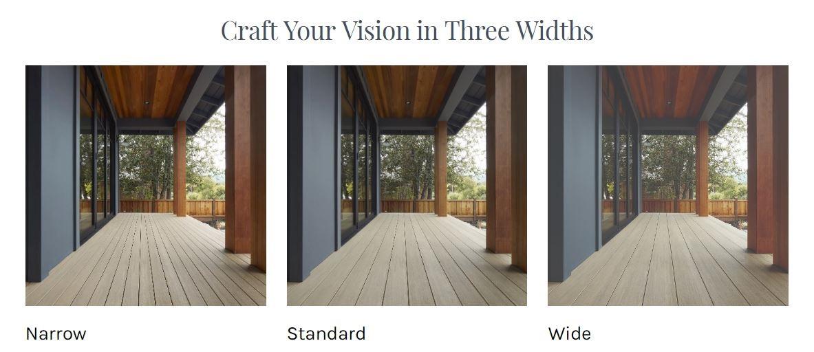 Timbertech Multi width decking