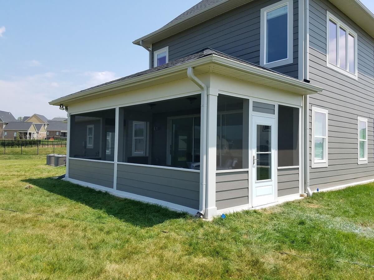 Custom backyard screened porch