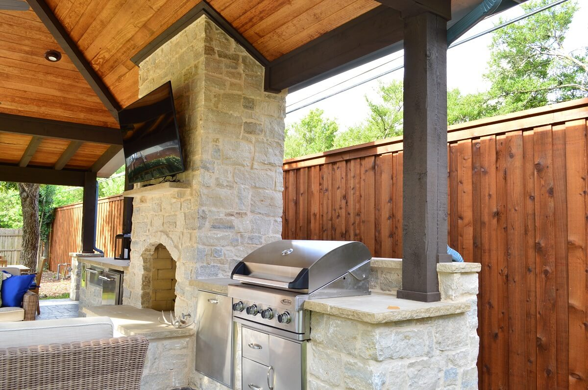 Outdoor Covered Kitchen Area