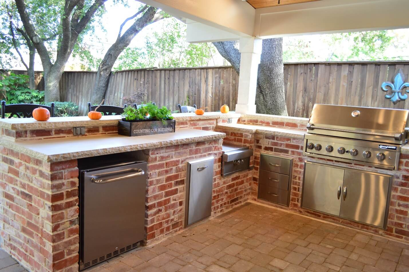 Outdoor Kitchen Under Covered Patio