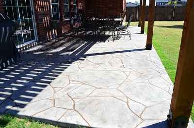 Stain Stamp Outdoor Patio