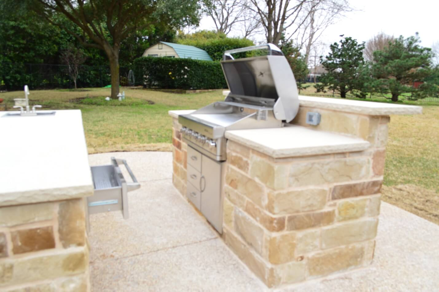 Extended Patio Outdoor Kitchen