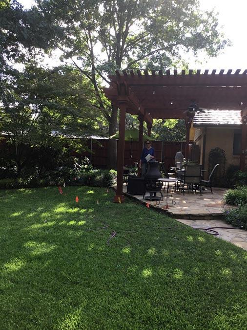 Before patio redesign