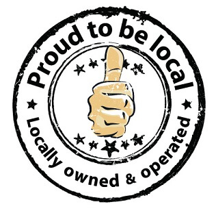 Proud to be local badge