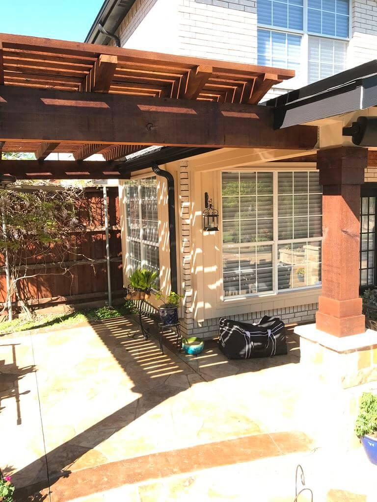 Pergola on patio
