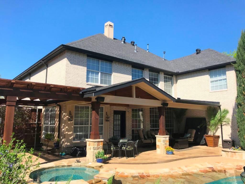 Custom poolside patio