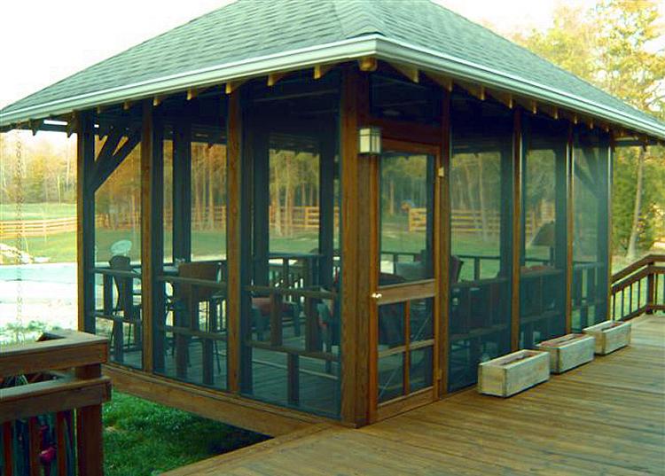 Custom detached screened porch