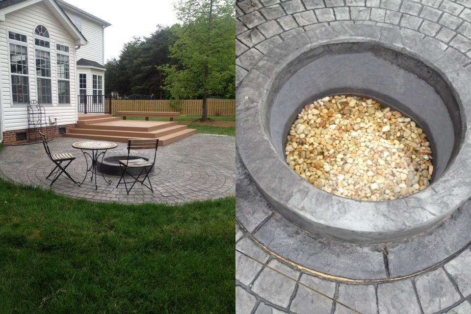AZEK deck and firepit