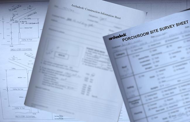 Site survey sheets