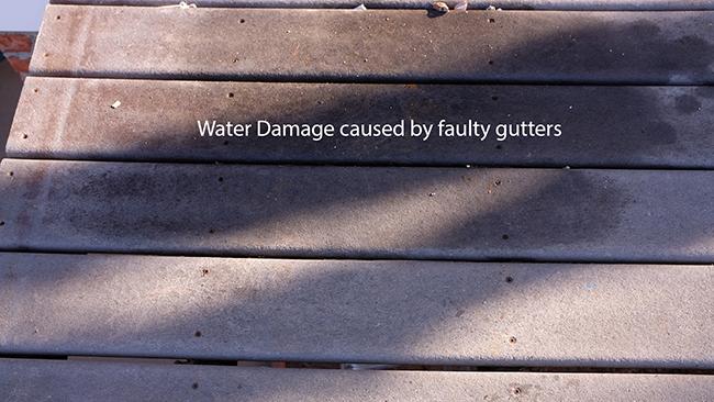 Water damaged landing