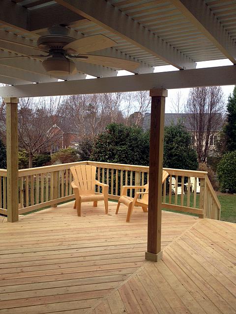 Deck and pergola combination