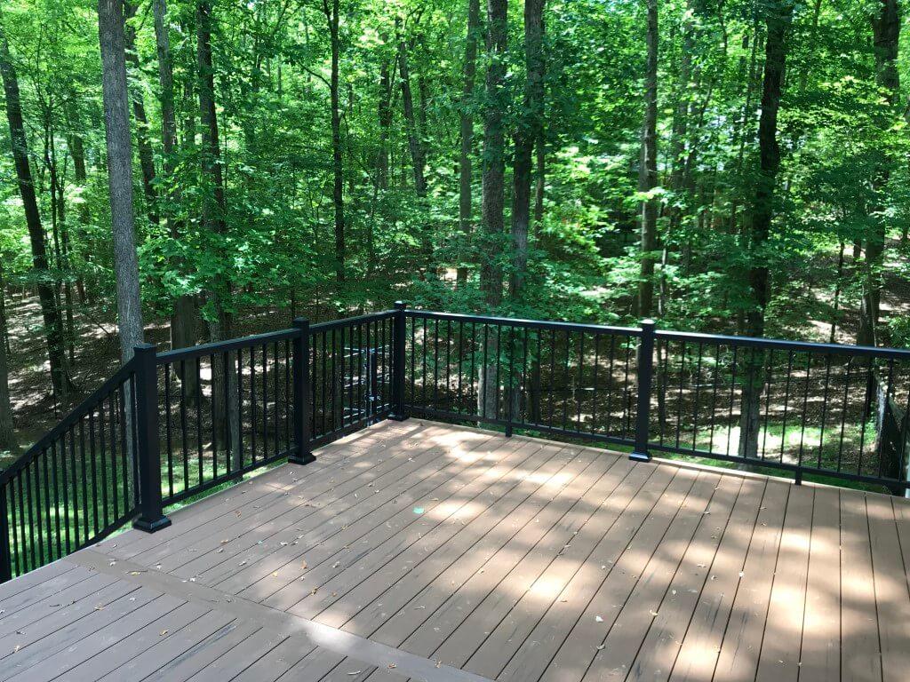 black railings provide unobstructed views