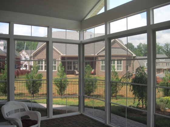 3 season room with Eze Breeze windows