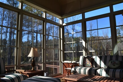 Eze Breeze porch with transom windows