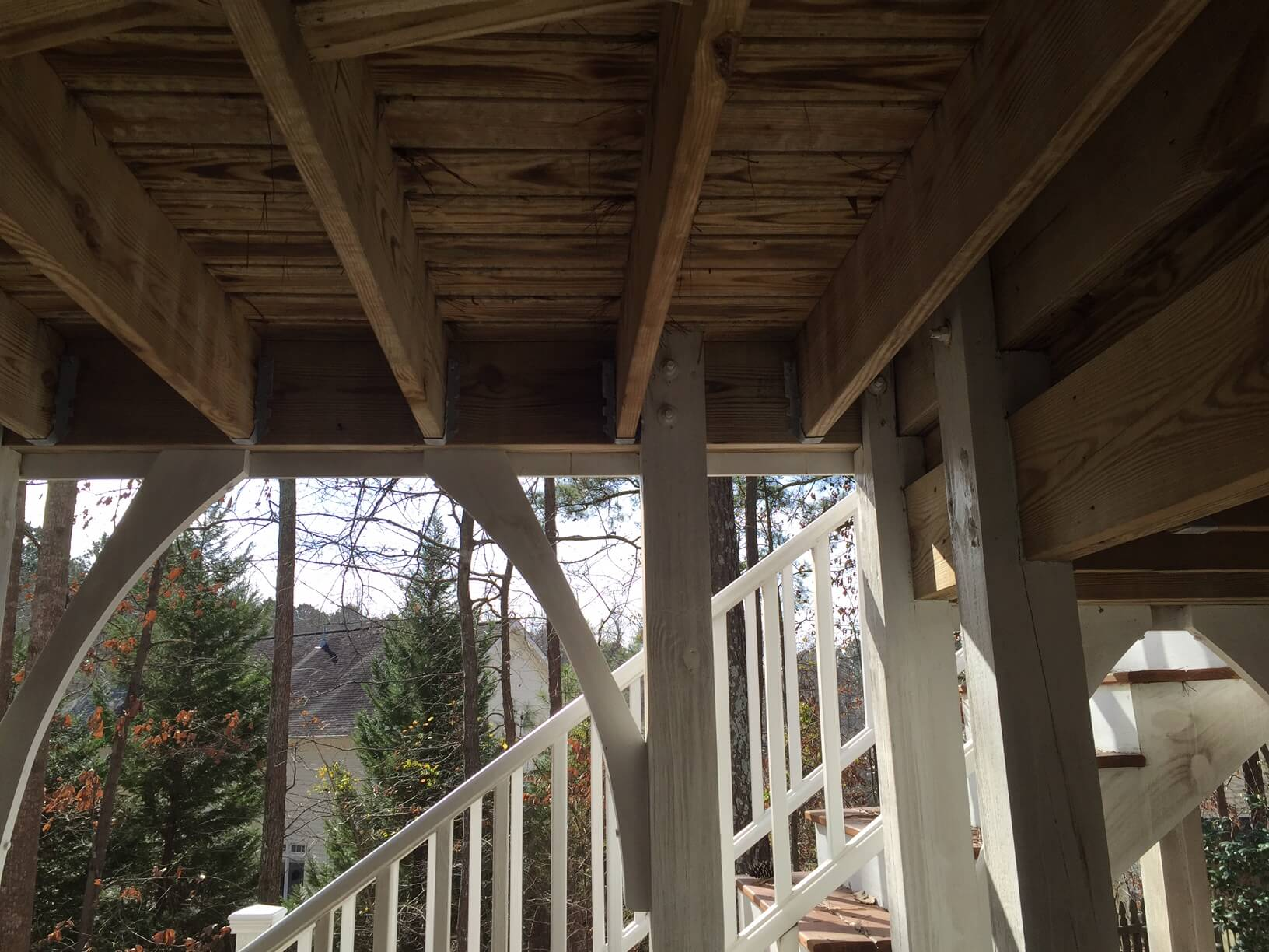 Deck substructures may or may not be able to hold a porch roof
