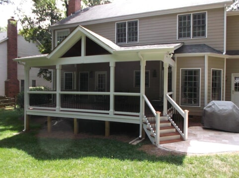 open gable customer covered porch in raleigh
