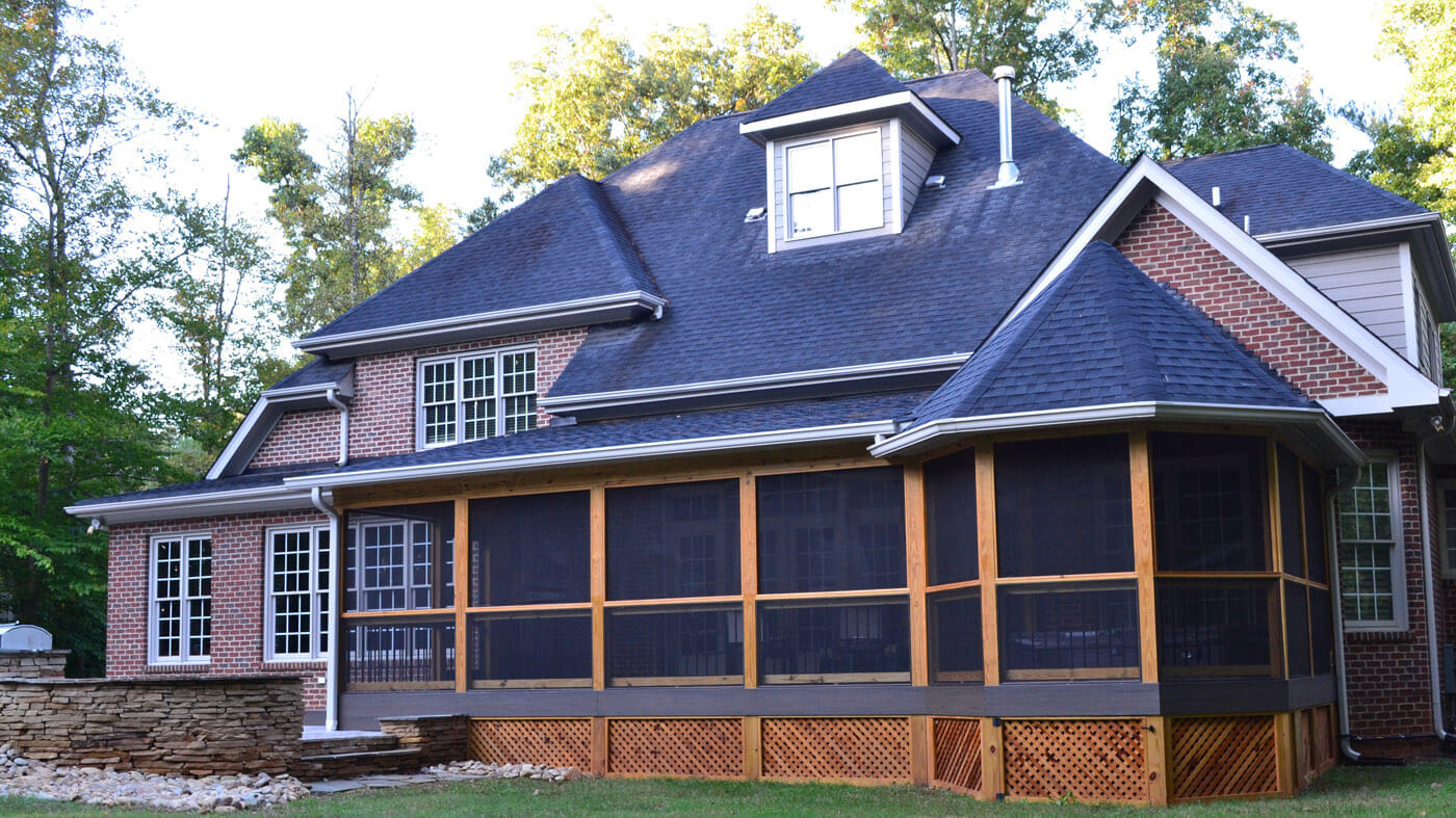 can a porch roof tie in to your home's roofline