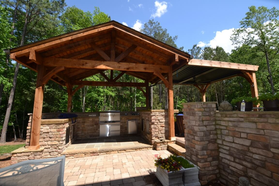 rustic covered porches are popular in Raleigh
