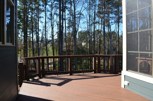 timbertech deck with railing