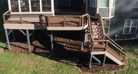 timbertech multi level deck in Wake Forest