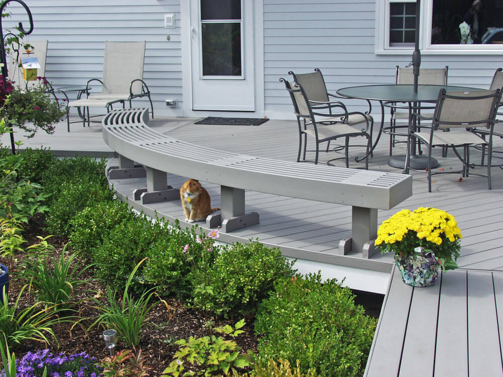 Gray Deck with Bench