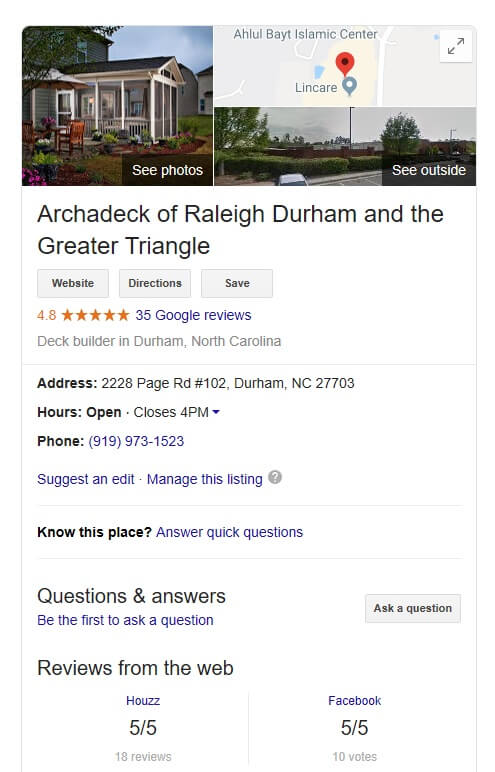 Archadeck of Raleigh Durham and the Greater Triangle