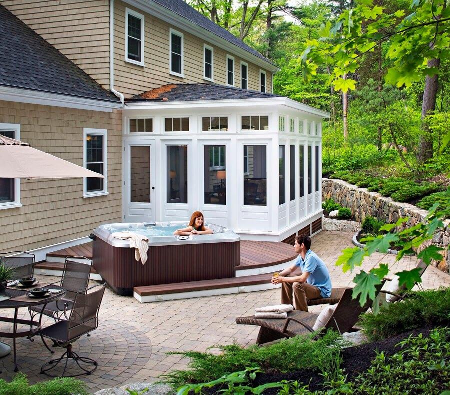 bakyard deck and patio