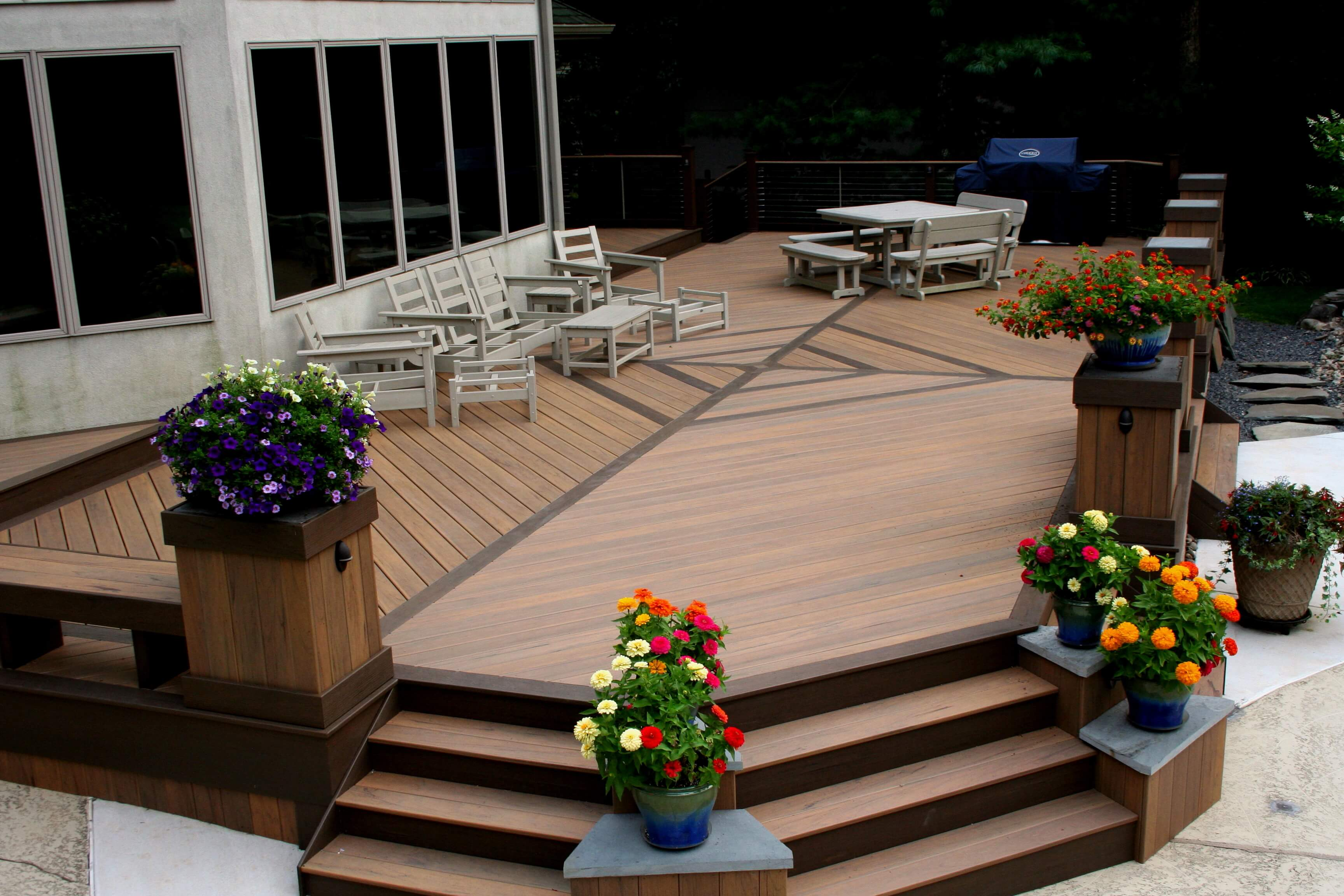 Custom deck with different floor designs