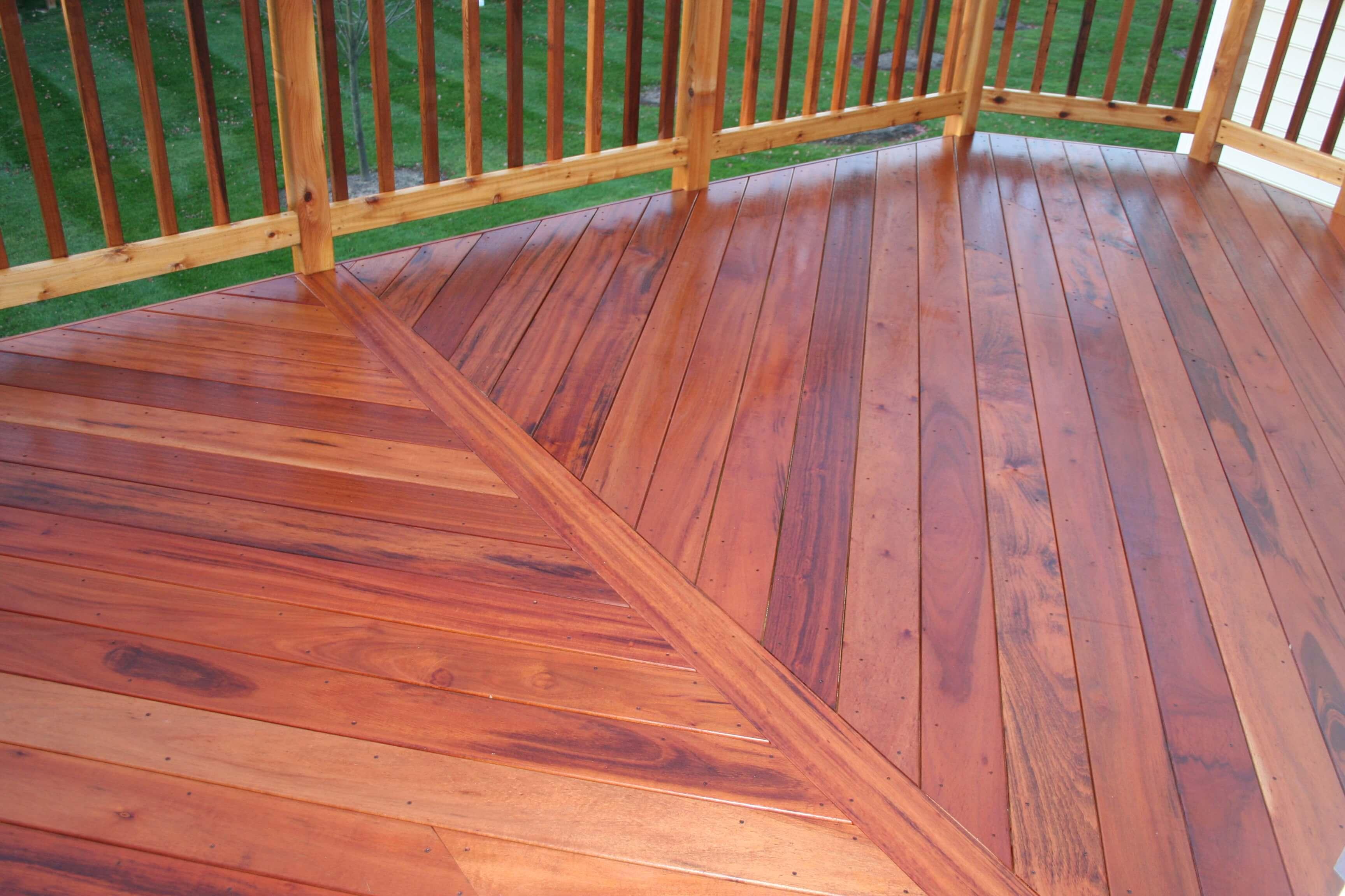 Deck floor design details