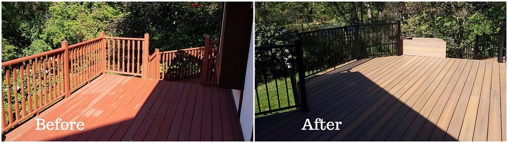 Before and after redecking