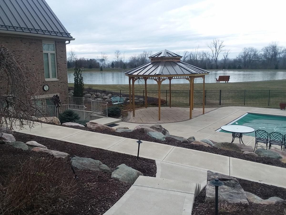 Custom poolside gazebo in Washington Township, OH