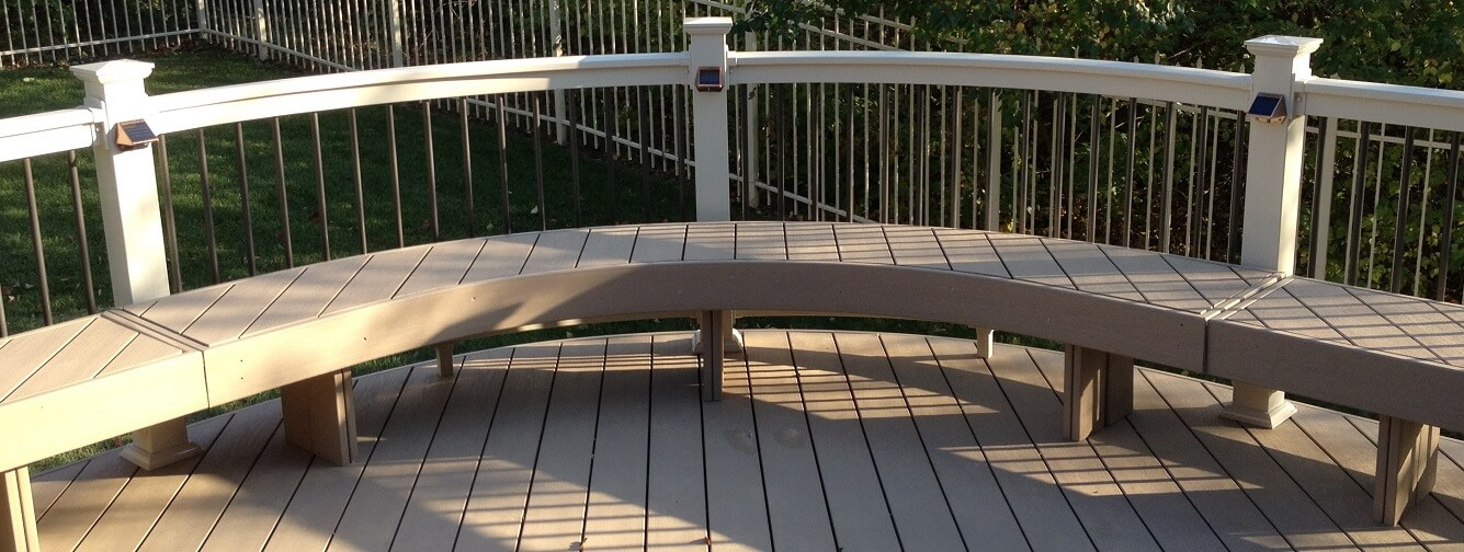 Deck with a bench