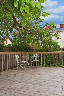 Old wooden deck