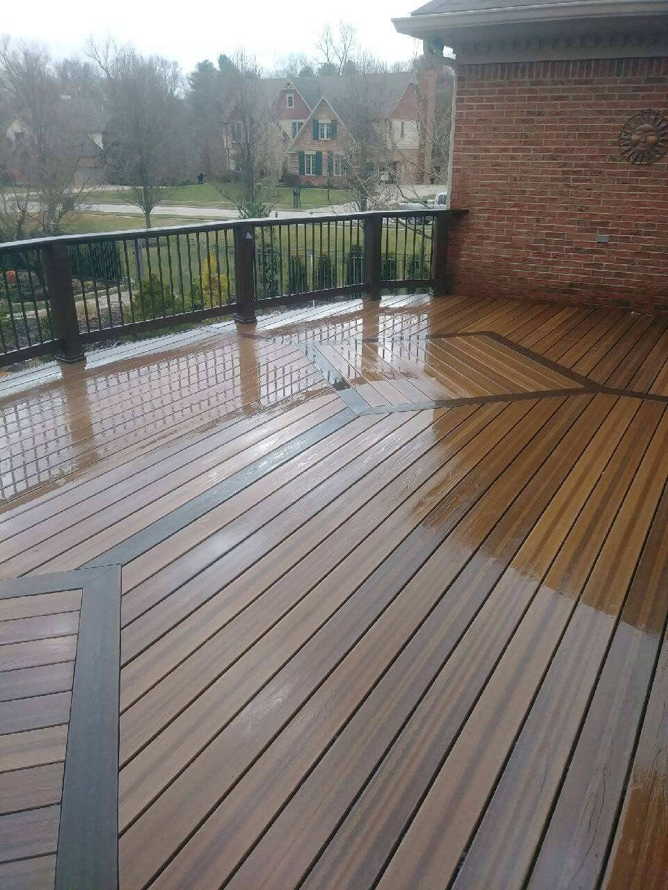 New second story deck