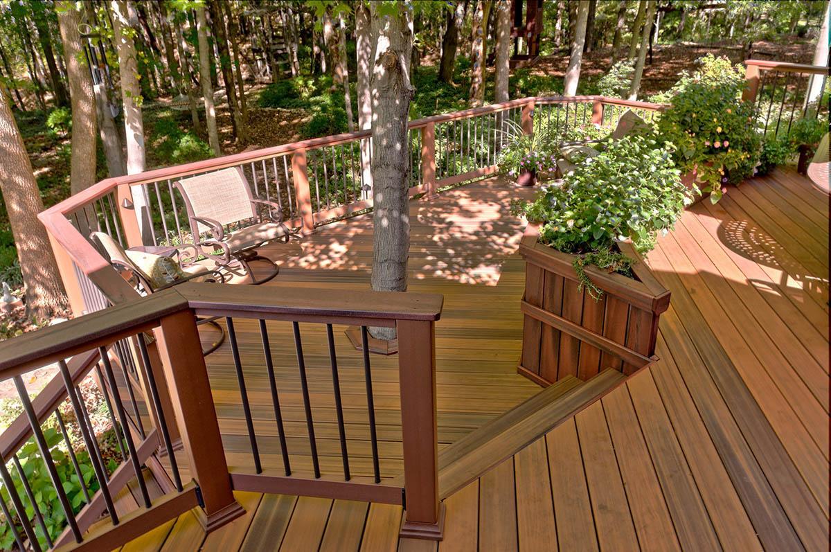 upper view of deck