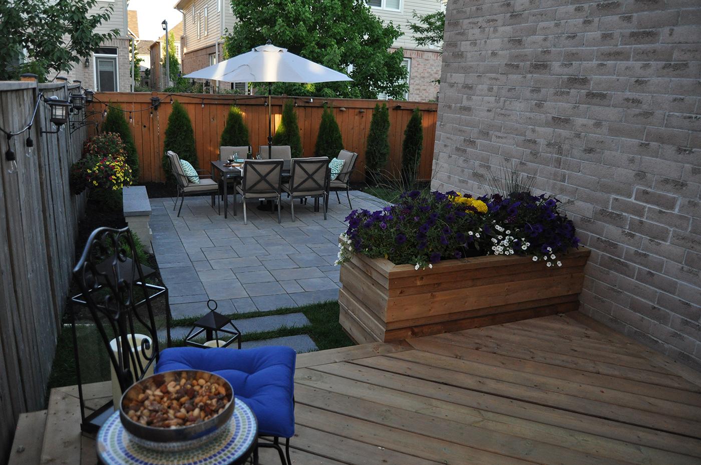 Unilock paver patio and deck