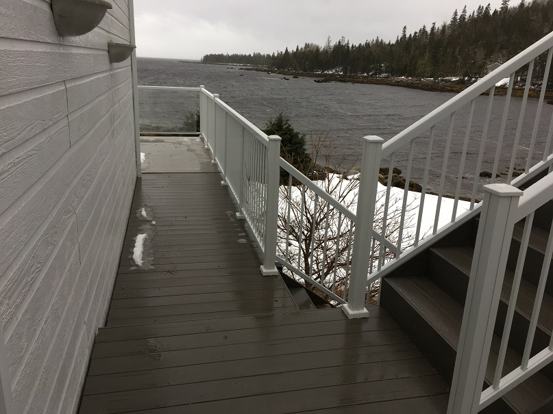 Composite deck stairs and walkway